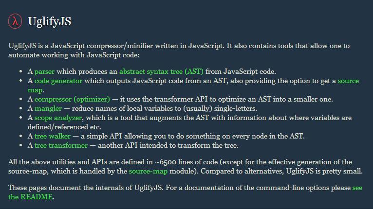 uglifyjs 压缩代码时不支持箭头函数,默认参数