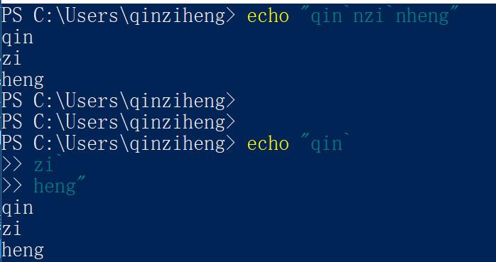 powershell换行输出,powershell多行命令,powershell换行输入命令怎么换行