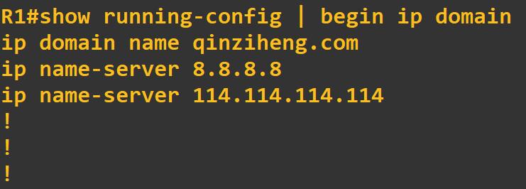 cisco查看DNS设置,思科显示DNS配置信息,获取路由器dns信息