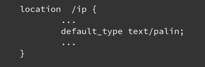 nginx纯文本text/palin
