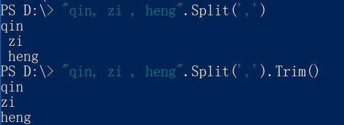 powershell分割字符串,powershell用空格,逗号,分号分割字符串