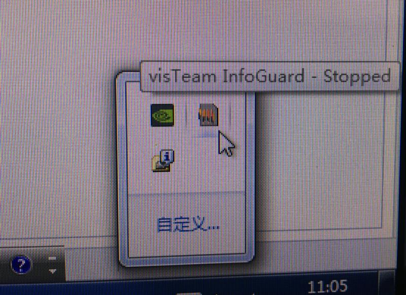 visTeam InfoGuard Stopped